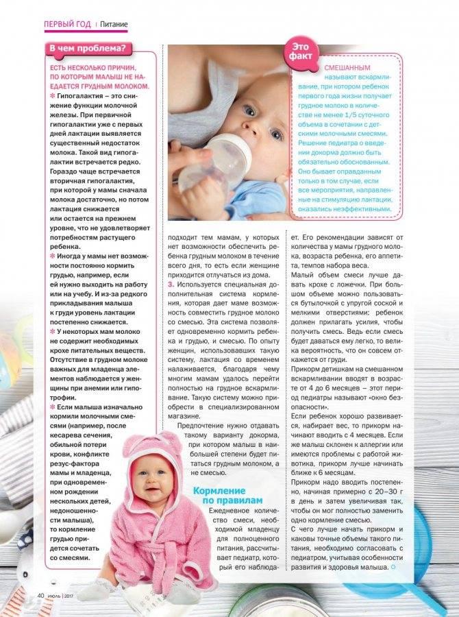 Наедается ли ребенок молозивом? - начало гв