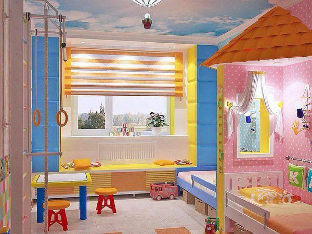 Дизайн детской комнаты для двух разнополых детей— 36 фото