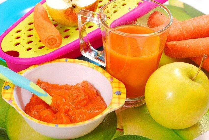 Введение прикорма: морковь
