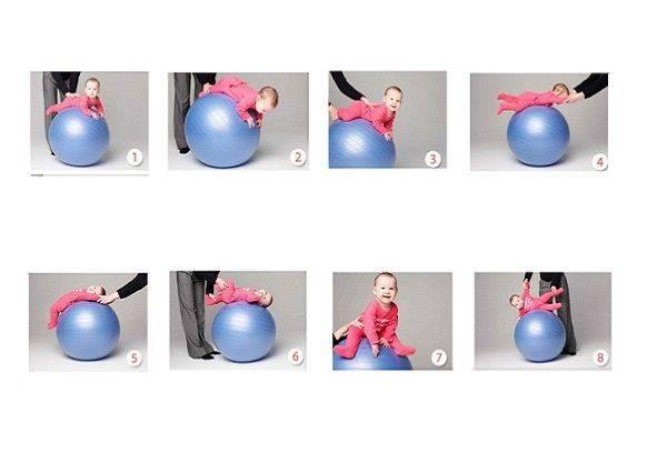 Гимнастика на мяче для грудничков | активная мама