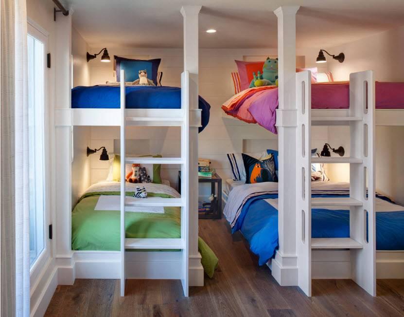 Кровать для троих детей (53 фото): детская для 3 детей в одной комнате