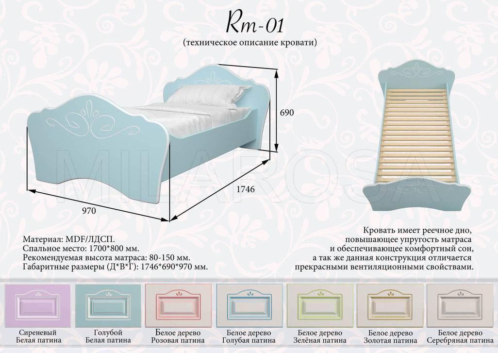 Размеры детской кроватки: стандартные габариты до 3 лет и старше