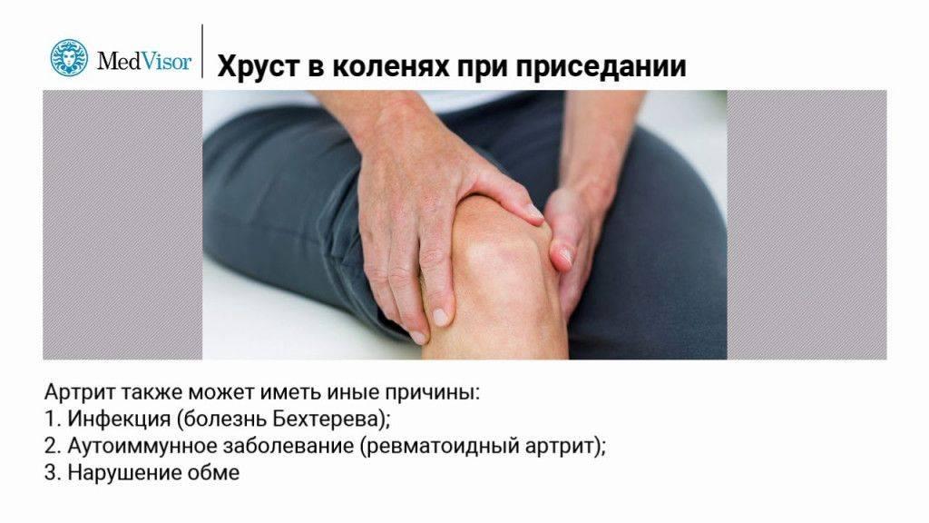 Лечение боли в колене возникающем при вставании, приседании, при спуске