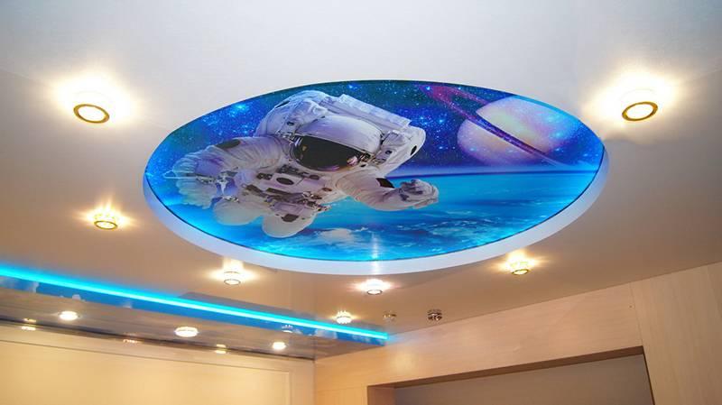 Двухуровневые натяжные потолки: фото в интерьере, виды, цвета, формы, дизайн, подсветка