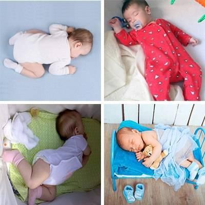 Позы для сна новорожденного: как укладывать грудничка на животе, спине, боку
