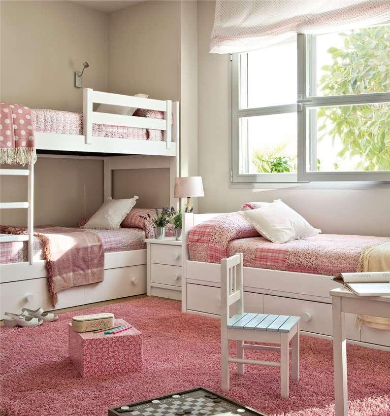 Детская мебель для двух девочек, что обязательно должно быть в комнате