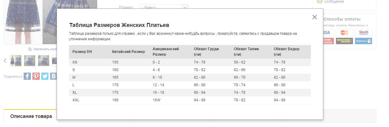 Размер одежды алиэкспресс. таблица размеров одежды из китая