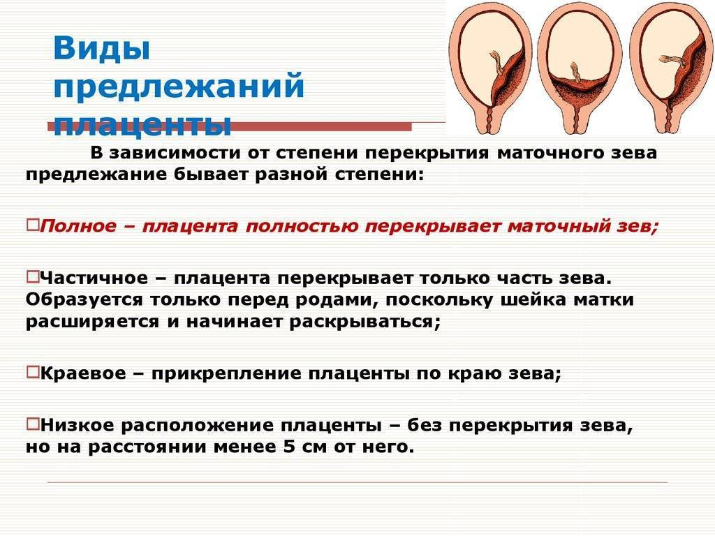 Чем грозит краевое, полное (центральное) предлежание плаценты и как эта патология беременности отражается на родах