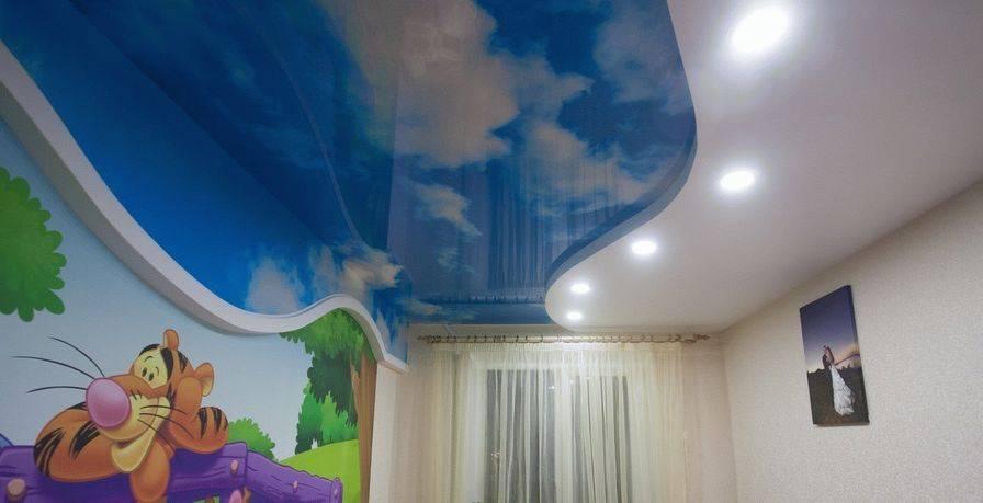 Натяжной потолок в детскую комнату: 60 лучших фото и идей