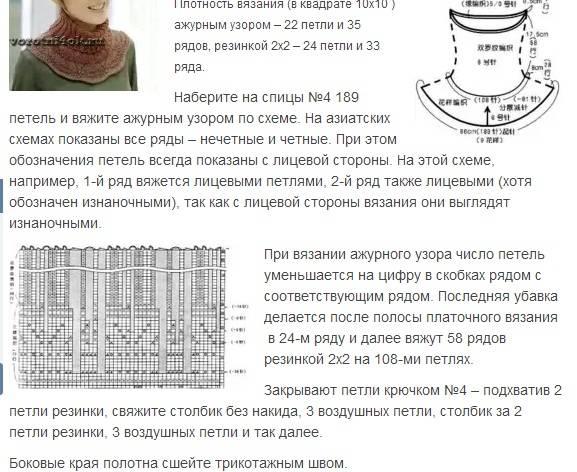 Как связать манишку: пошаговая схема, инструкция и описание для наичнающих