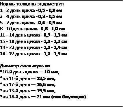 Размер фолликула (яйцеклетки) при овуляции: каким должен быть, норма для зачатия
