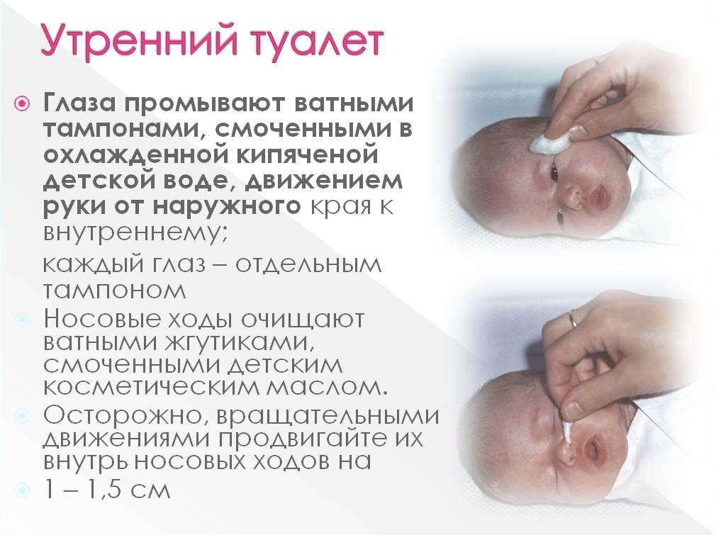 Утренний туалет новорожденного: алгоритм проведения и как ежедневно ухаживать