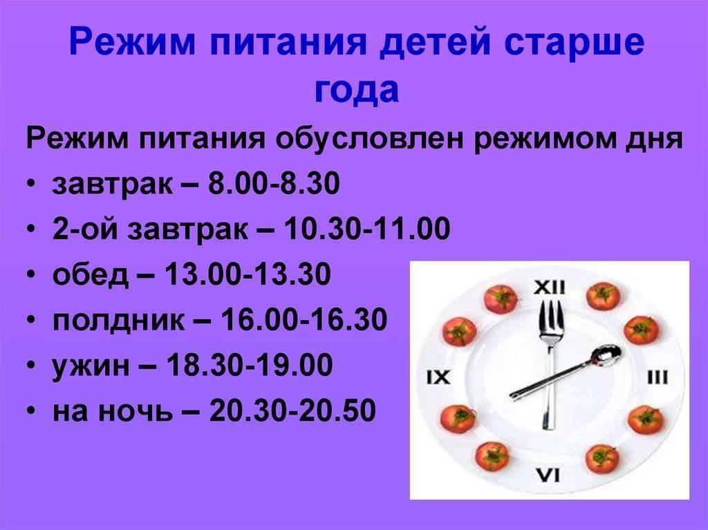 Режим ребенка в 2 года: распорядок дня, меню, питание и сон по часам (таблица)