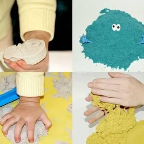 Как делается кинетический песок