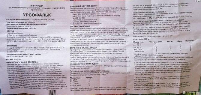 Урсофальк  в ульяновске - инструкция по применению, описание, отзывы пациентов и врачей, аналоги
