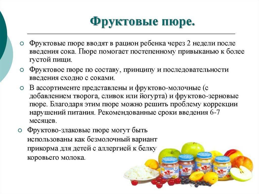 Вариант меню для прикорма ребёнка (как вводить прикорм)