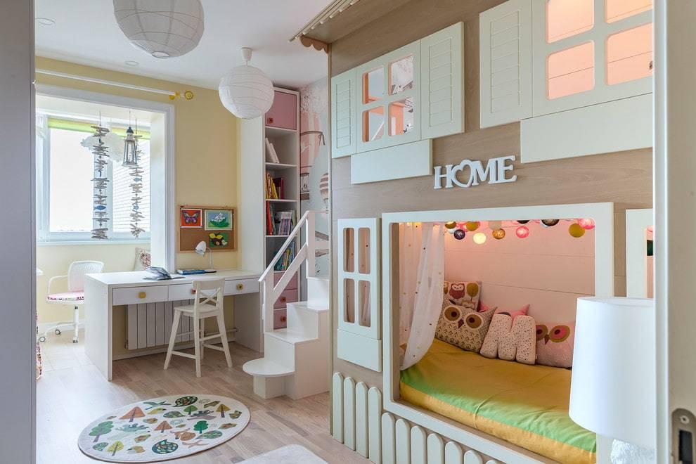 45 идей дизайна детской комнаты для двух девочек