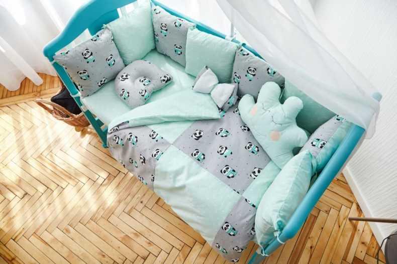Размеры детского постельного белья в кроватку для новорожденных и детей постарше