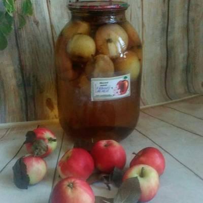 Компот из сушеных яблок для детей