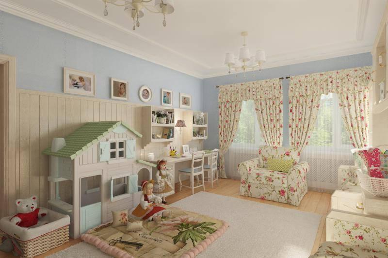 Детская комната в стиле прованс с минимальными затратами, наглядно.