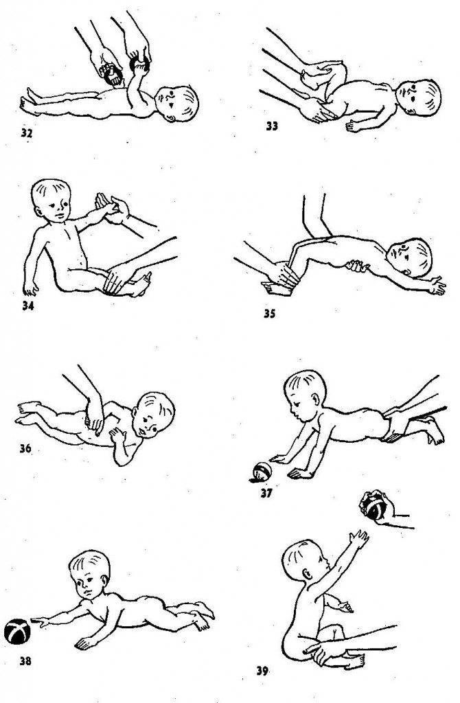 Как научить ребенка переворачиваться. простые упражнения