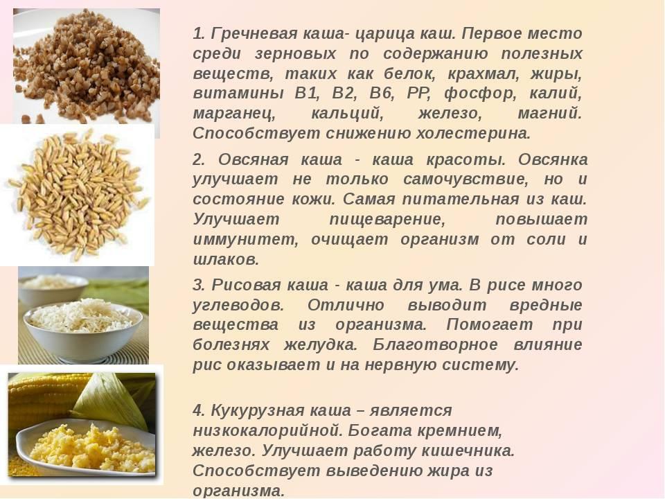 Каши при грудном вскармливании: пшенная, перловка, рис, манная и другие
