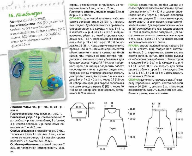 Как связать комбинезон новорожденному: схемы и пошаговая инструкция