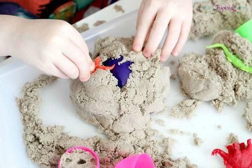 Как сделать кинетический песок в домашних условиях, рецепт