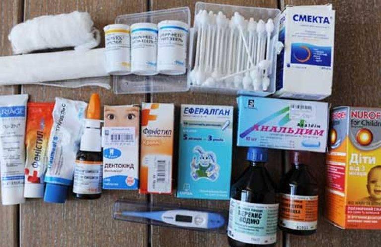 Аптечка для новорожденного ребенка: что в нее должно входить?