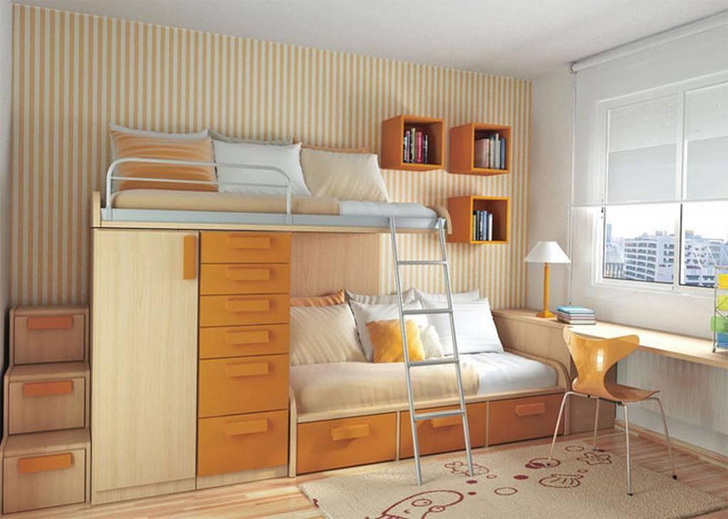 Дизайн маленькой детской комнаты для мальчика и девочки: выбор мебели, планировка интерьера
