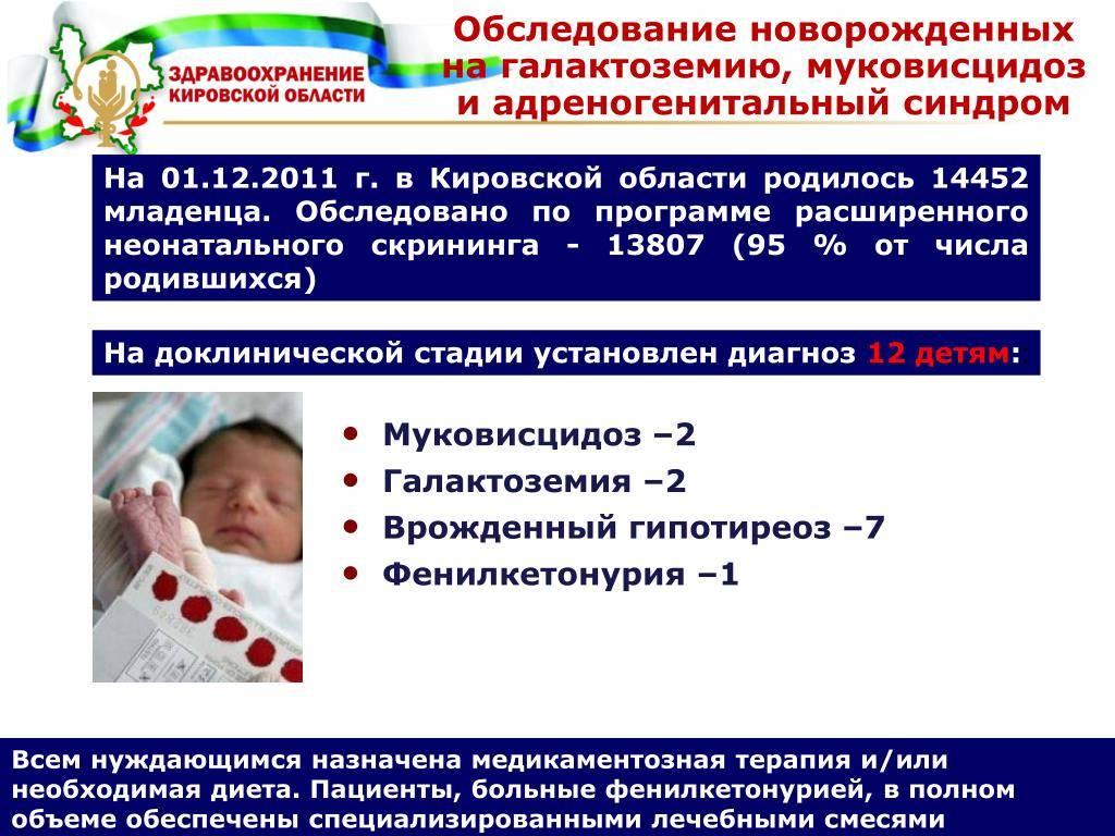 Неонатальный скрининг новорожденных - выявление врожденного или наследственного заболевания у малыша