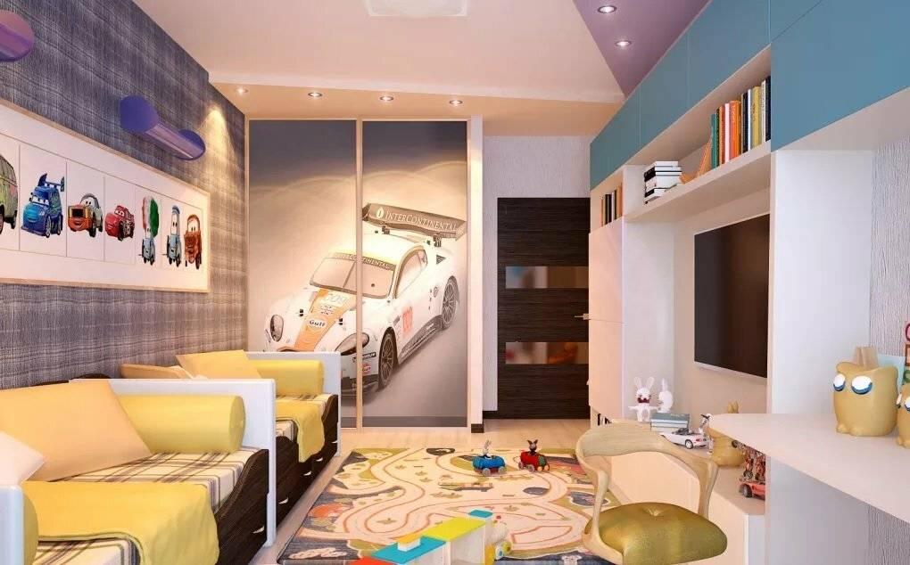 Комната для двух девочек подростков, сестер разного возраста: спальня в современном стиле - 47 фото