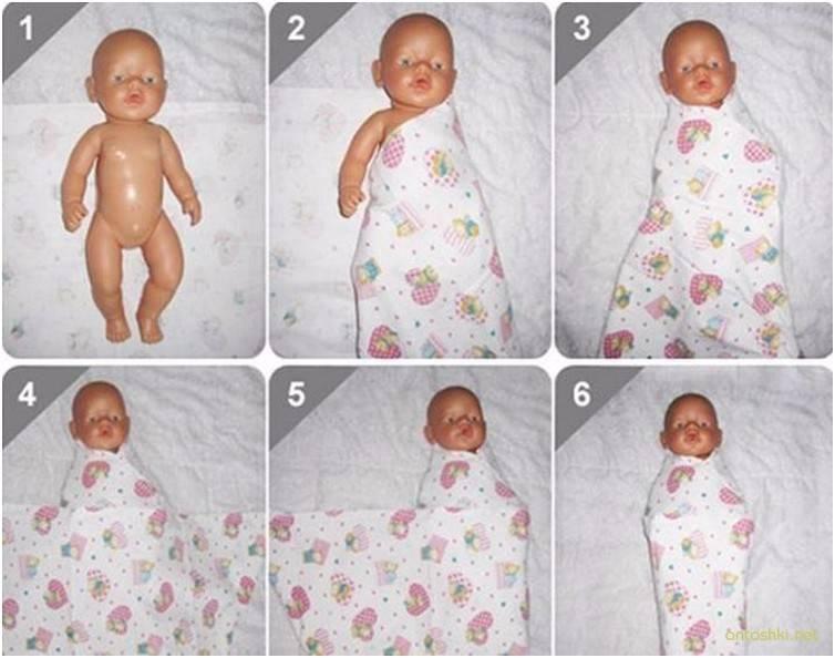 Школа мам: как пеленать новорожденного