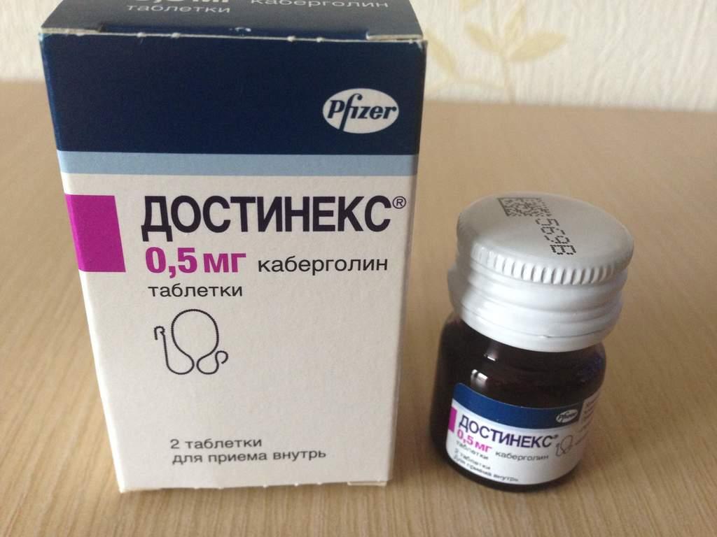 Достинекс таблетки 0,5 мг 2 шт.   (pfizer [пфайзер]) - купить в аптеке по цене 949 руб., инструкция по применению, описание, аналоги