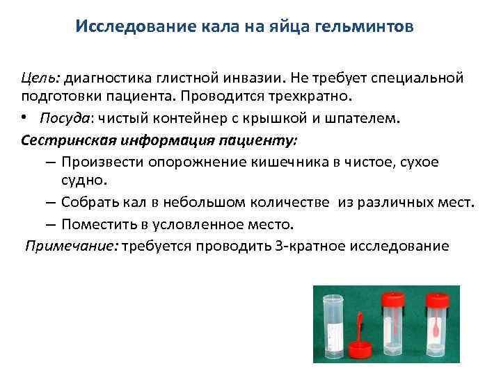 Анализ кала на яйца глист (гельминтов). соскоб на энтеробиоз у детей и взрослых. как правильно подготовиться? :: polismed.com