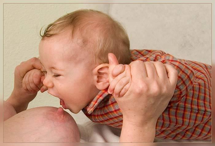 Что делать, если ребенок отказывается от груди, психует и плачет?