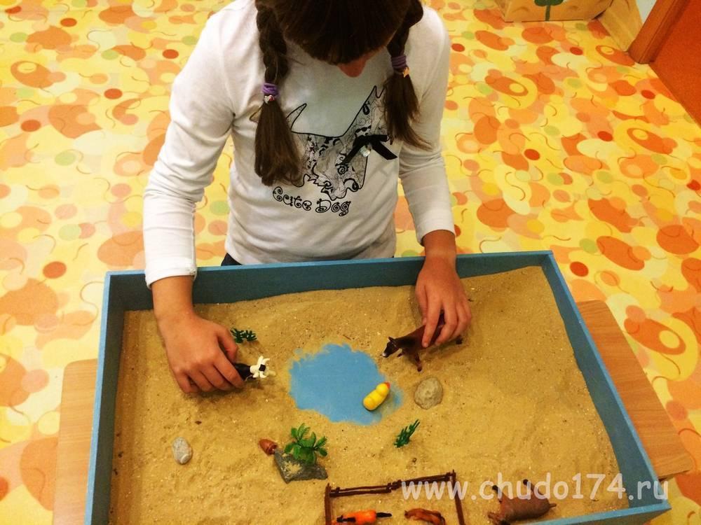 Развивающее занятие с применением песочной терапии для детей 4–5 лет
