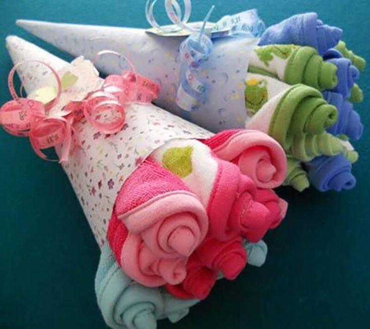 Букет из памперсов для новорожденных
