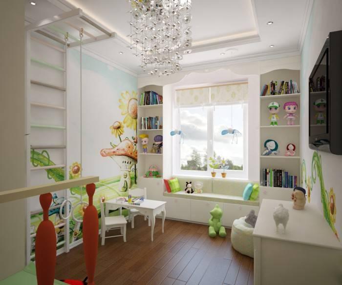 Дизайн детской с балконом: 90 фото, идеи интерьера комнаты