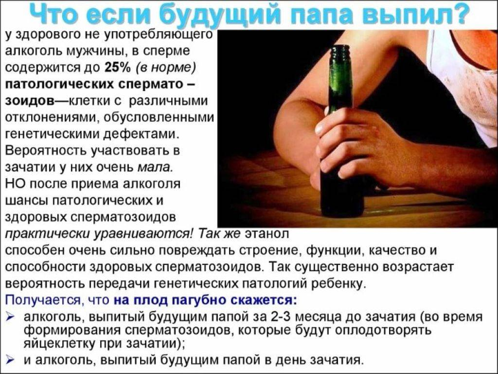 Как употребление алкоголя влияет на зачатие