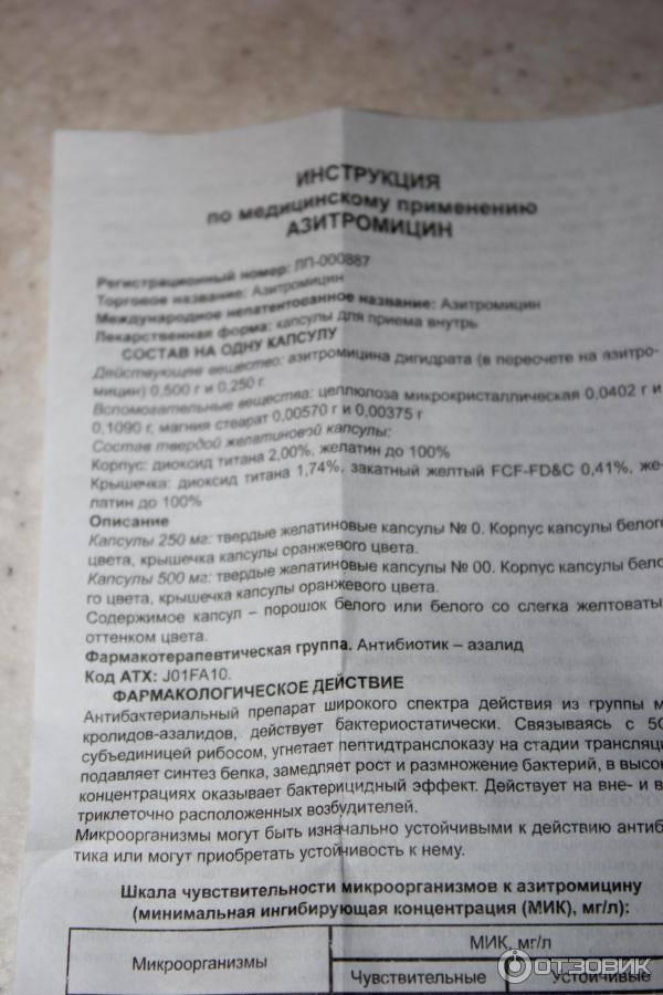 Азитромицин капсулы 250 мг 6 шт. производство медикаментов