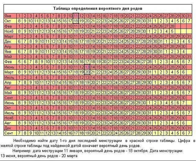Калькулятор беременности