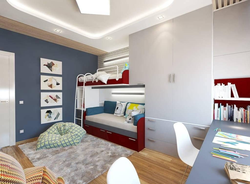 Дизайн детской комнаты 12 кв м для девочки и мальчика: фото, ремонт и планировка интерьера