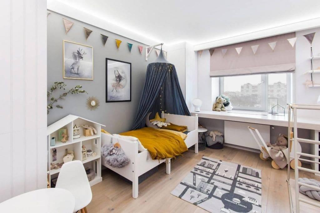 Натуральные материалы и яркие детали – детская комната в скандинавском стиле