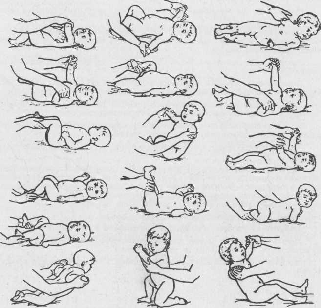 Гимнастика с первых дней жизни новорождённого