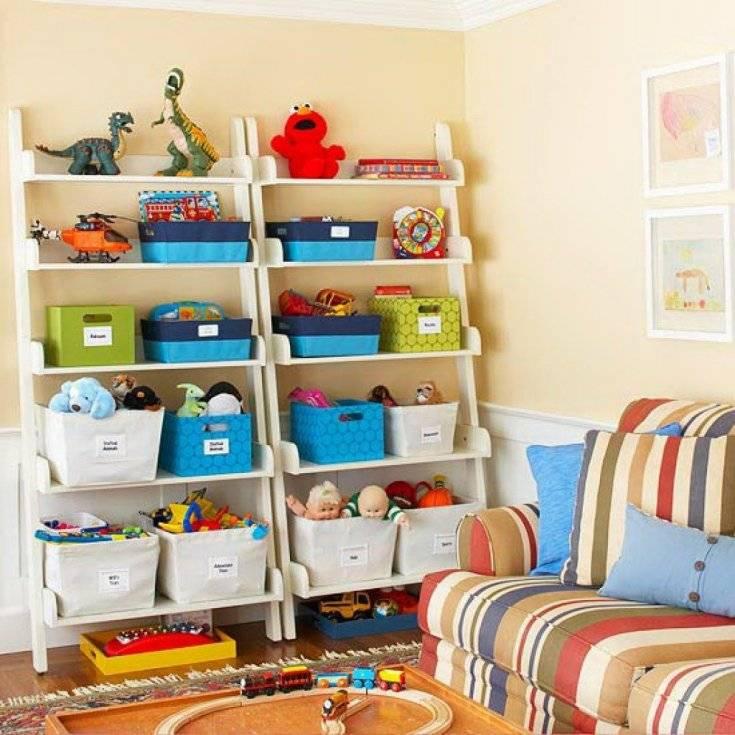 Как хранить игрушки в детской, в ванной, прихожей без бардака