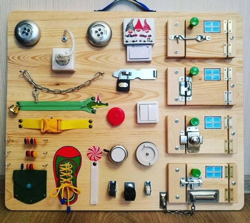 Бизиборд своими руками для мальчика: 7 идей как сделать, пошаговые фото и видео