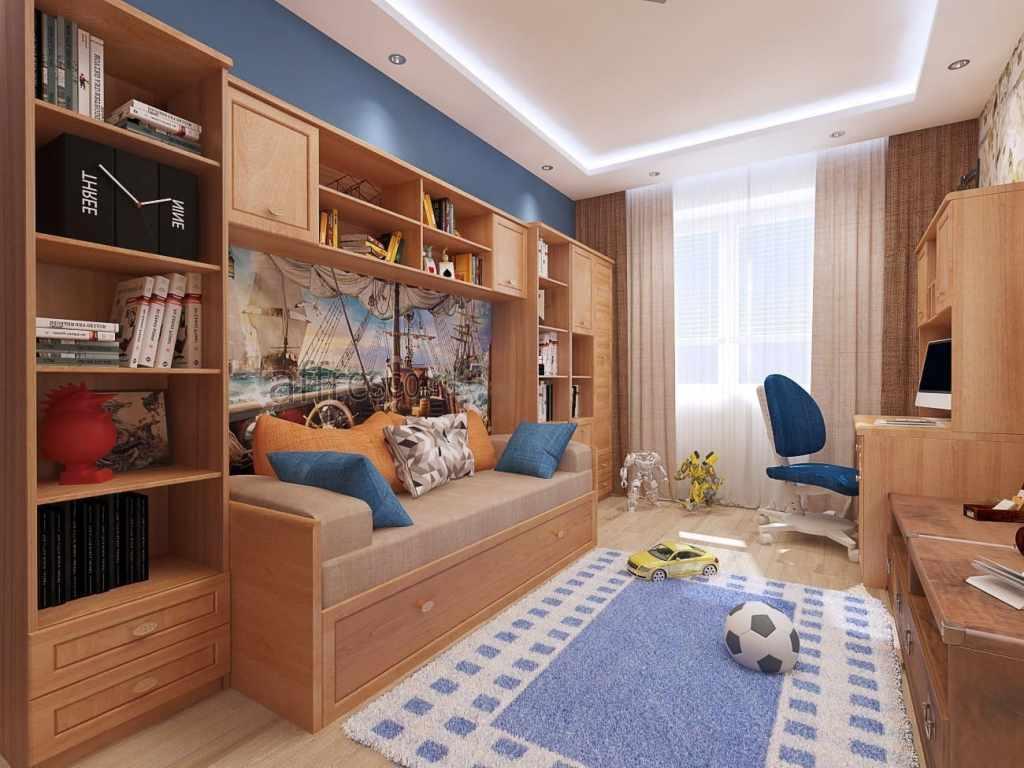 Варианты дизайна детской комнаты с балконной дверью
