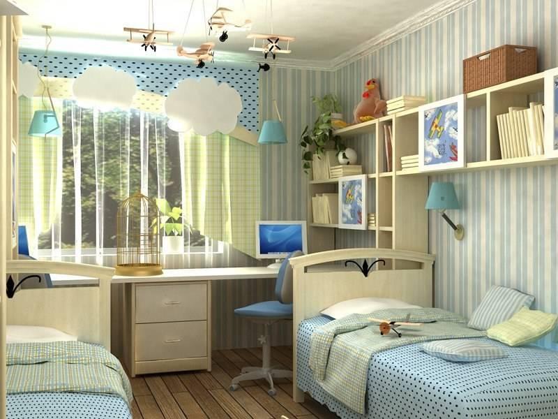 Детская спальня для двоих детей