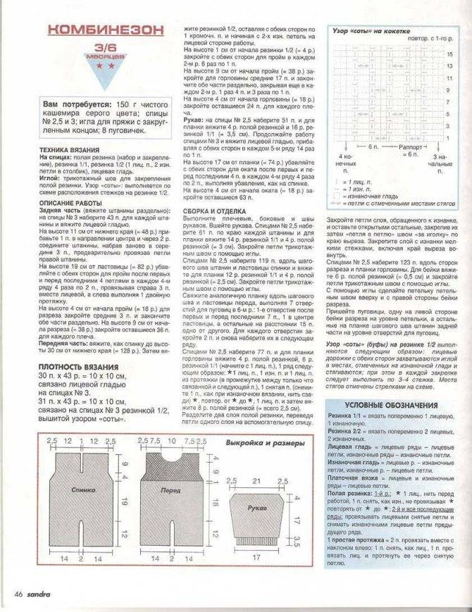 Вязаные комбинезоны для новорожденных - описание схемы вязания, фото идеи, полезные советы